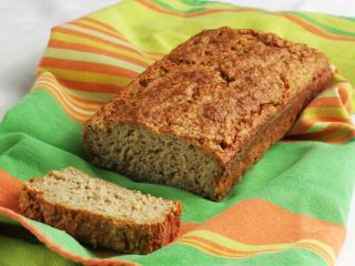 Nekynutý chléb z ovesných vloček