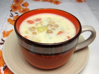 Cizrnová polévka s mlékem