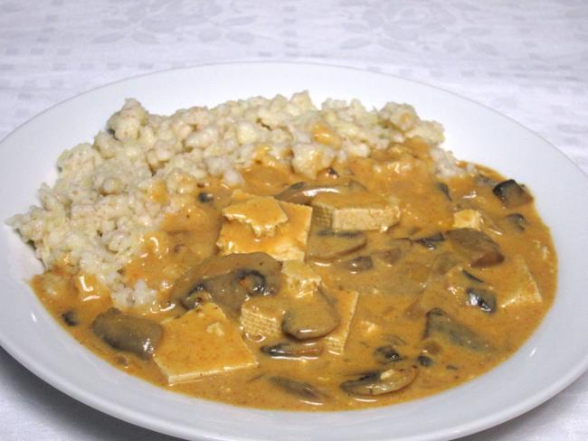 Tofu-žampiónová omáčka