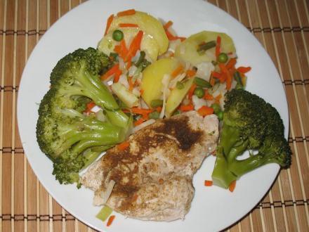 Jednoduchá kuřecí prsa s brokolicí