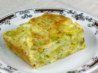 Pórkový koláč se sýrem