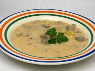Hlívová polévka se smetanou