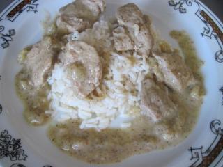 Vepřové maso s hořčicovou omáčkou