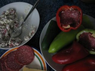 Plnění paprik