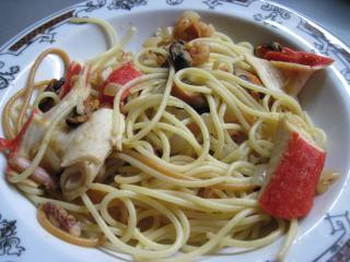 Špagety s plody moře