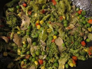 Přimíchání zeleniny