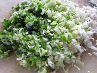 Příprava zeleninovo-masové směsi