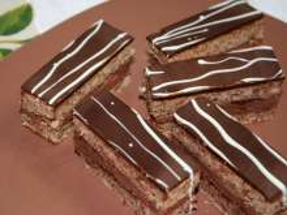 Čokoládovo-ořechové řezy