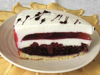 Tvarohový dort s jahodovým želé