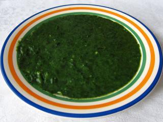 Špenát z čerstvého špenátu