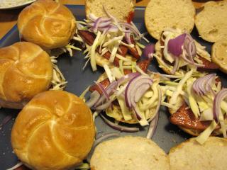 Skládání hamburgerů