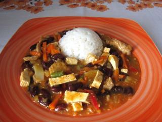 Vepřový wok s tofu