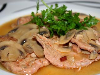 Vepřové maso na houbách