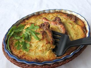 Zapékané vepřové karé v bramboráku