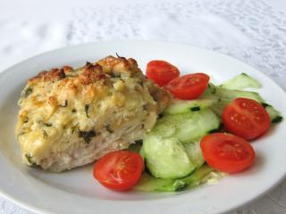 Rybí filé pod sýrovou nádivkou