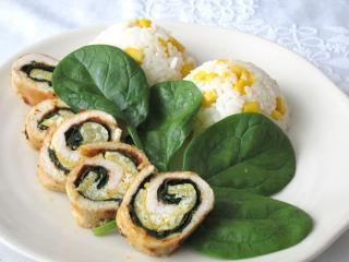 Kuřecí špenátovo-vaječné roládky