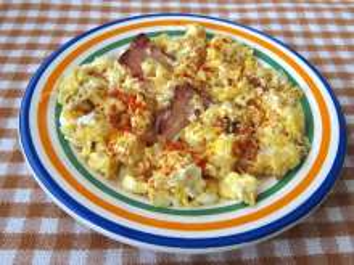 Míchaná vajíčka se slaninou