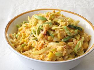 Mango-zeleninový krémový salát