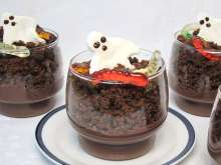 Pudinkový Halloween pohár