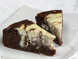 Tvarohovo-kakaový koláč