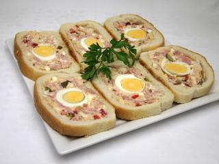 Plněné chlebíčky