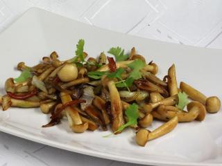 Restované houby Shimeji