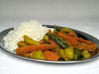 Zeleninové sabdží s cuketou a rýží basmati