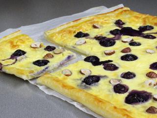 Koláč s borůvkami a mascarpone