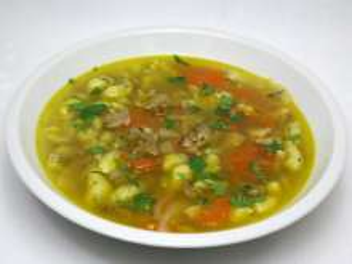 Polévka z lesní houby kotrče kadeřavého