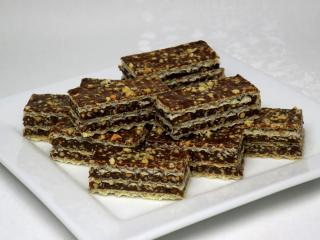 Karamelovo čokoládové oplatky s arašídy
