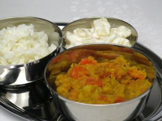 Pikantní hrách s mrkví