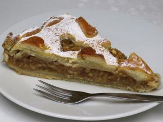 Valentýnský jablečný koláč