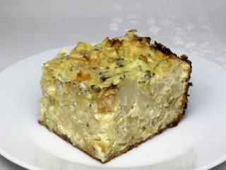Zapékaný květák s bramborami a sýrem