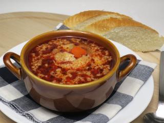 Telecí dršťková polévka