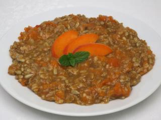 Meruňková kaše z obilných vloček