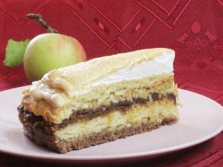 Překládaný jablečný dort
