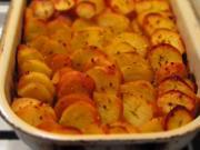 Zapečené brambory s pórkem