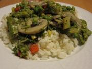 Žampiony s brokolicí v ústřicové omáčce