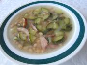 Cuketovo-fazolová polévka