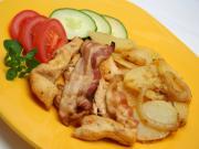 Pečená kuřecí prsa s bramborami