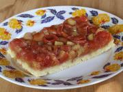 Třešňový koláč s rebarborou