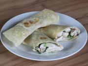 Domácí tortilly se špenátovo-kuřecí náplní