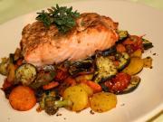ActiFry grilovaný losos se zeleninou
