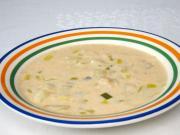 Bramborová polévka s fazolemi a pórkem