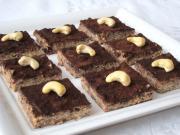 Tofu čokoládovo-oříškové kostky