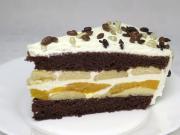 Smetanovo-piškotový dort