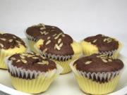 Dvojbarevné tvarohové muffiny