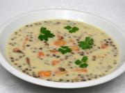 Smetanová čočková polévka s batáty