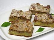 Jablečný koláč s ořechovým tvarohem