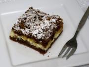 Strouhaný tvarohový koláč s jablky